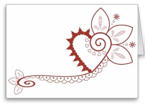 My third henna heart design. Also comes in pink.